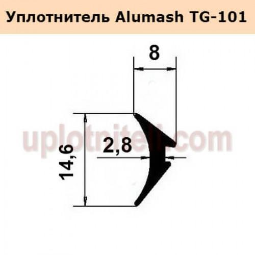 Уплотнитель Alumash TG-101 (Клин 2,8 мм.)