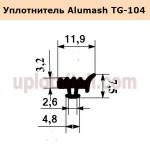 Уплотнитель Alumash TG-104 стекольный