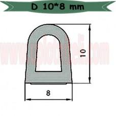 Самоклеющийся уплотнитель D 10*8 мм