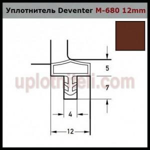 Уплотнитель DEVENTER M-680 (10мм) коричневый