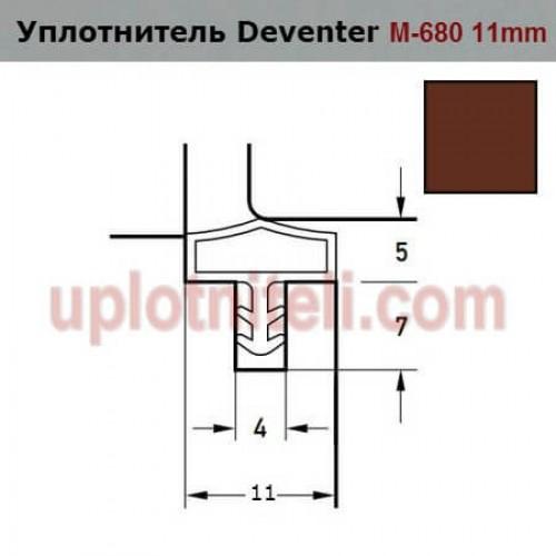 Уплотнитель DEVENTER M-680 11mm коричневый
