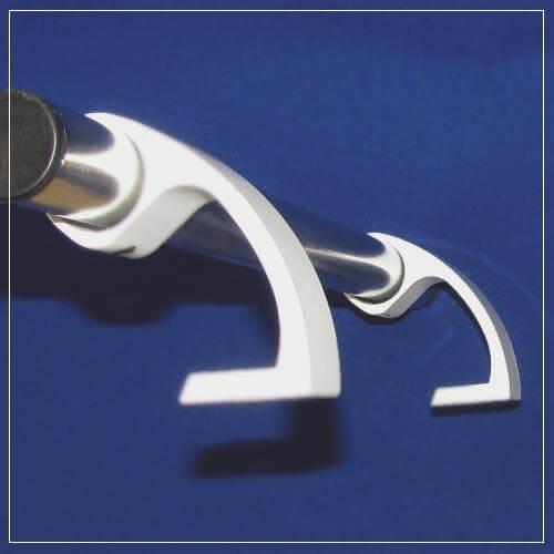 Ручка дверная из нержавеющей стали, 500 мм